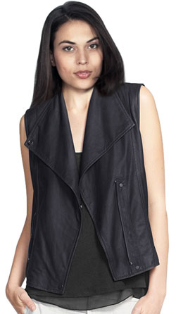 Light lambskin leather vest