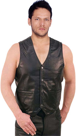 M-MLV-Chef doeuvre Styled Leather Vest for Men -1686