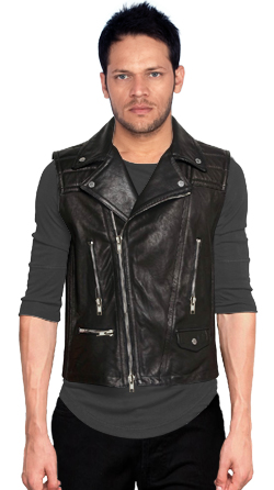 Peppy Bikers Elan Leather Vest for Men