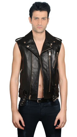 Stylish Super-Stud Leather Vest