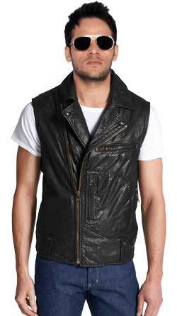 Cool Leather Vest with a Hardy Look