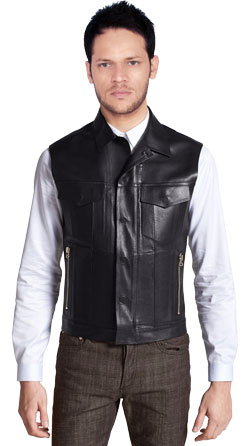 Elegant Formal Wear Leather Vest