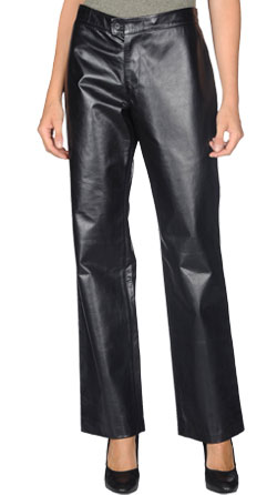High-rise waistline leather pant for women