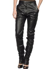 Quirky Tapered Leather Pant for Women