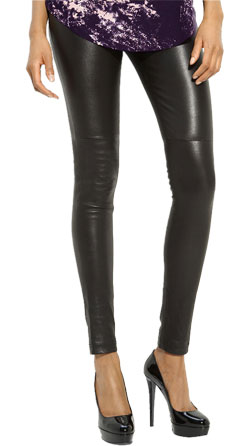 Skin-tight leather pant for women