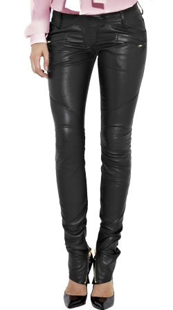 Buttery Soft Black Designer Leather Pants For Women