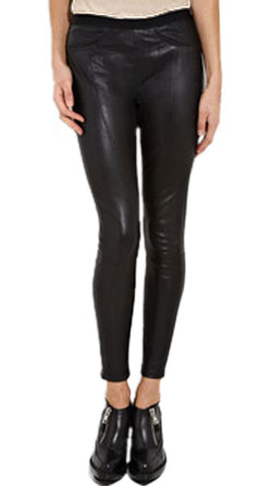 Erotic skin touch womens leather pant