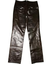Flexible Quilted Leather Pant for Men