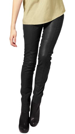 Skinny Leather Pant with Twin Modish Pockets