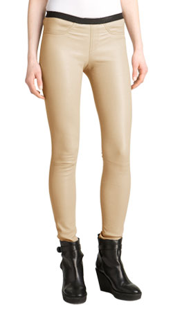 Spongy Leather Skinny Pant