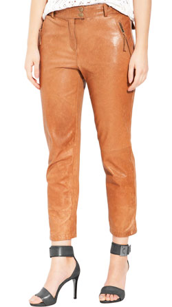 Trendy Looking Ankle Reach Leather Pant
