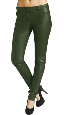Formal Looking Shiny Leather Skinny Pant
