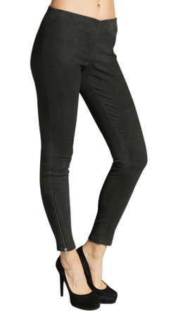 Upright Suede Leather Pant