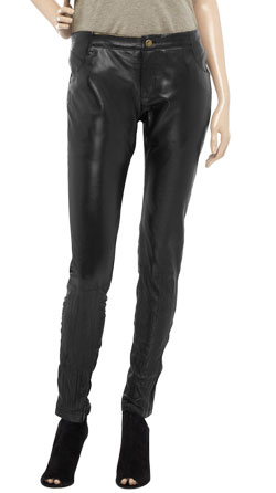 Wrinkle Touch Defining Smooth Leather Pant
