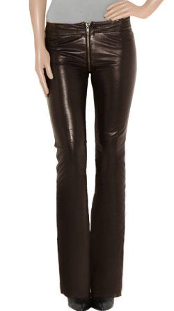 Designed Bell Bottom Leather Pants