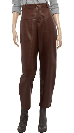 Funky Loose-Fitting Leather Pants