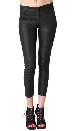 Leather Pant with Pin tucks