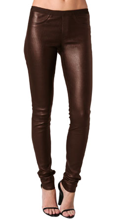 Straight Skin Feel Leather Pant