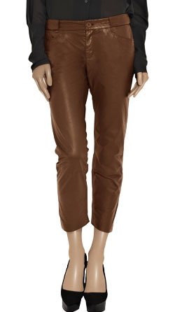 Straight Length Loose Leather Pants