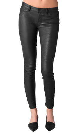 Above The Ankle Length Bouncy Leather Pant