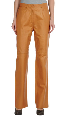 Round Ankle Formal Allure Leather Pant