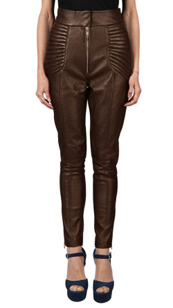 Leather Pant with Padded Hip Details
