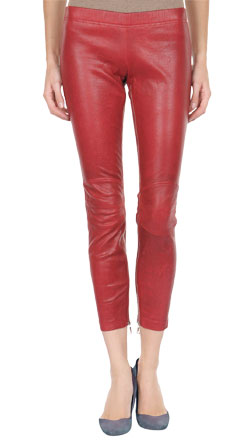 Above The Ankle Leather Pant with Aged Effect