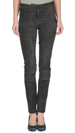 Enthralling Zippered Suede Leather Pants