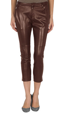 Capri Style Leather Pant with Four Pouches