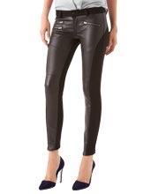 Sleek Cut Leather Pants