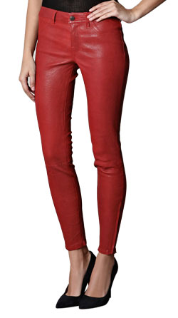Front Zip Fastening Leather Pant