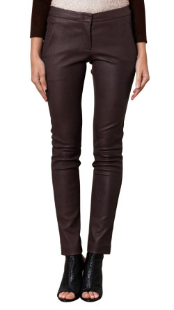 Striking Yet Stretched Leather Pants