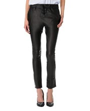Cozy and Laced Leather Pants