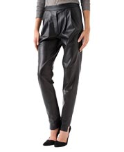 Sporty and Elegant Leather Pants