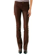 Bootcut Styled Leather Pants