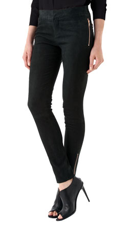 Casual and Cool Suede Leather Pants