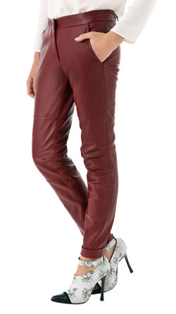 Bold and Flashy Leather Pants