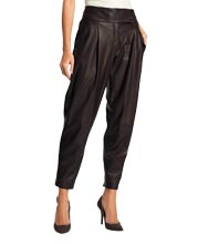 Cool and Baggy Tapered Leather Pants