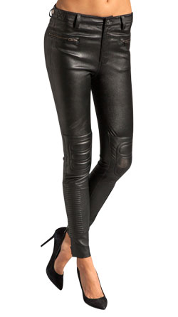 Cool Techno Styled Leather Pants