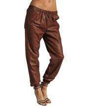sporty-elastic-waistband-leather-pant