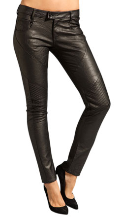 Skinny and Fashionable Leather Pants