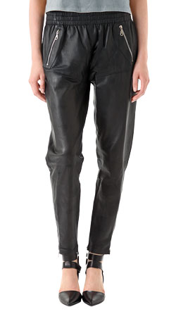Sumptuous and Frowzy Leather Pant