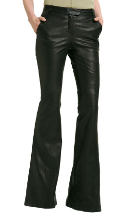Classic Leather Pant with Flared Bottoms