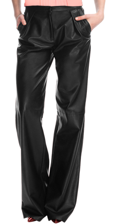 Stylish Wide Leg Womens Leather Pants