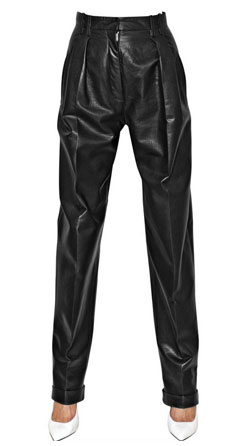 High-Waisted Leather Trousers for Women