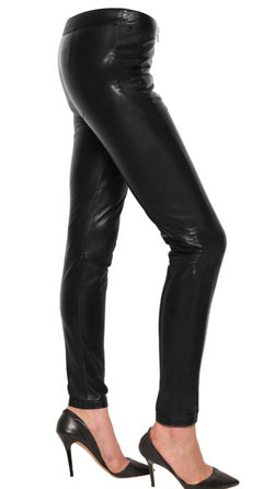 Sleek Womens Leather Trousers