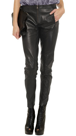 Slim fitting classy leather pants