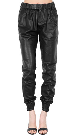 Comfortable Black Moto Leather Pants