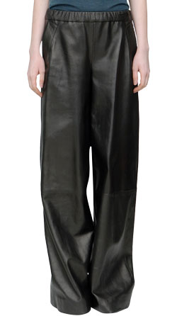 Wide Legged Comfortable Leather Pants