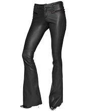 Retro-bootcut-leather-pants-for-women